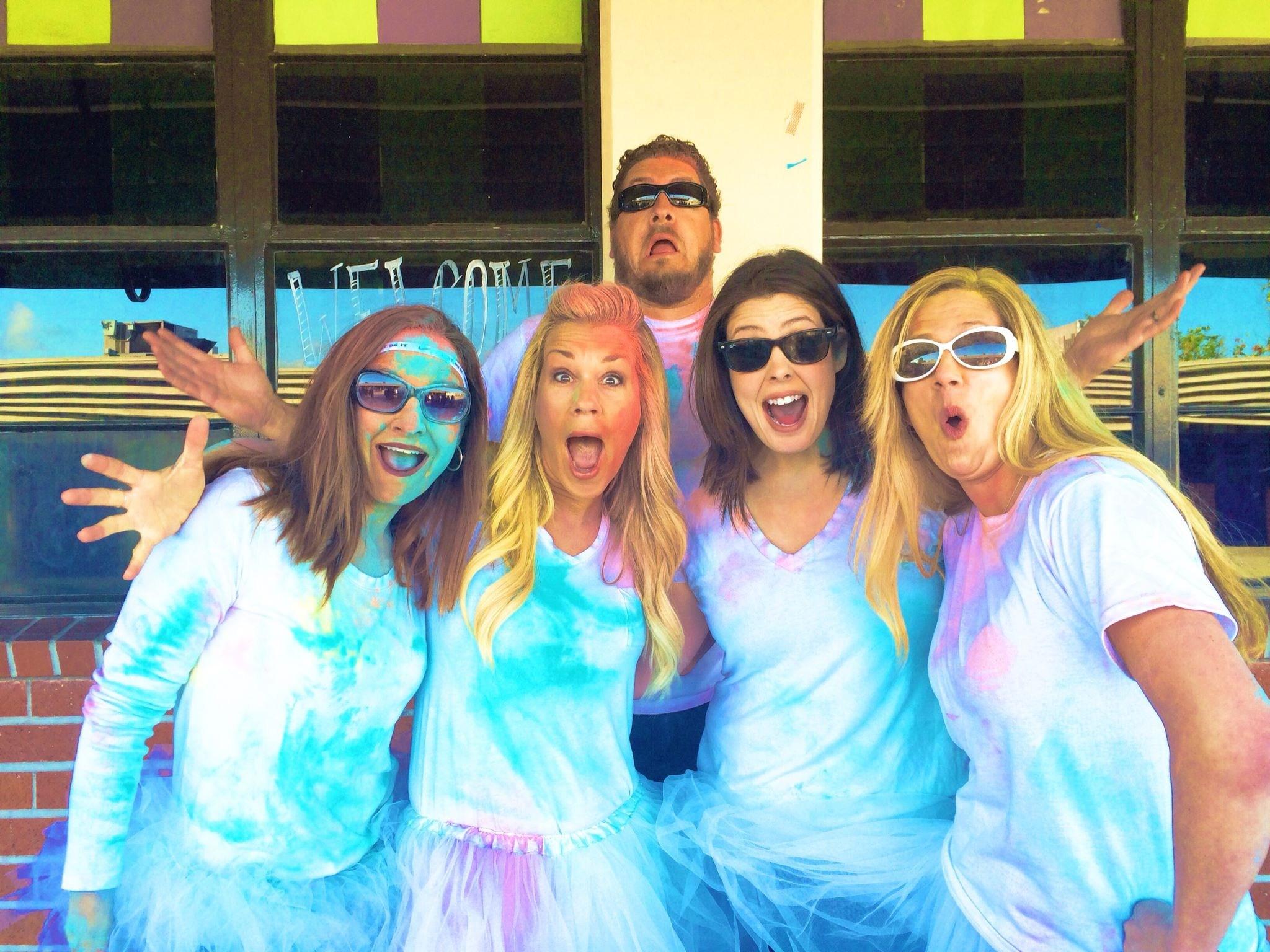 Granada Middle School teachers at the Color Run