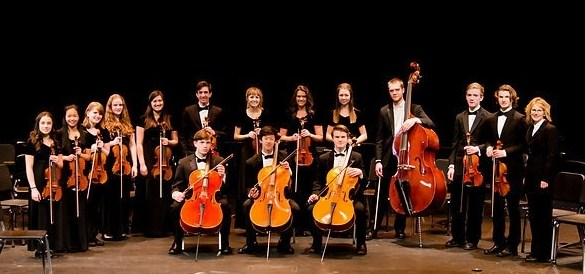 Mead's string section of the orchestra