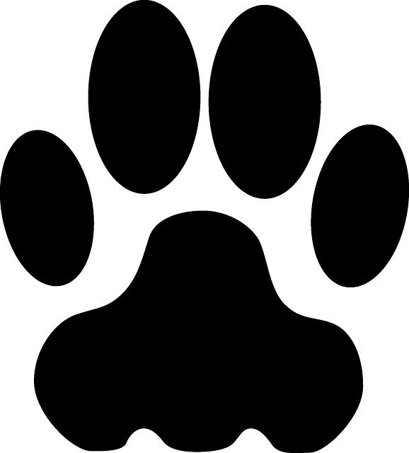 black cougar paw print