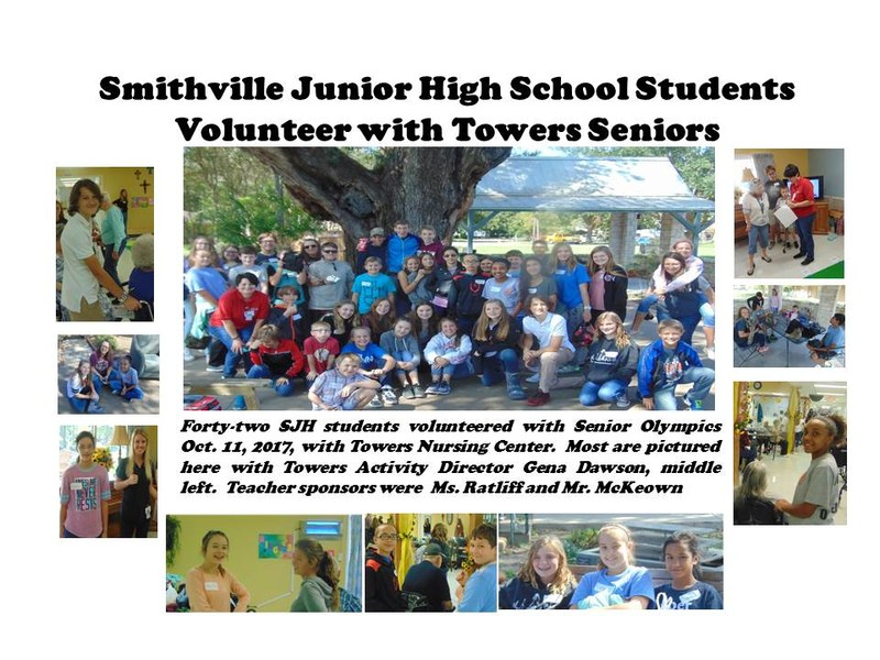 Students Volunteer with Towers Seniors Thumbnail Image