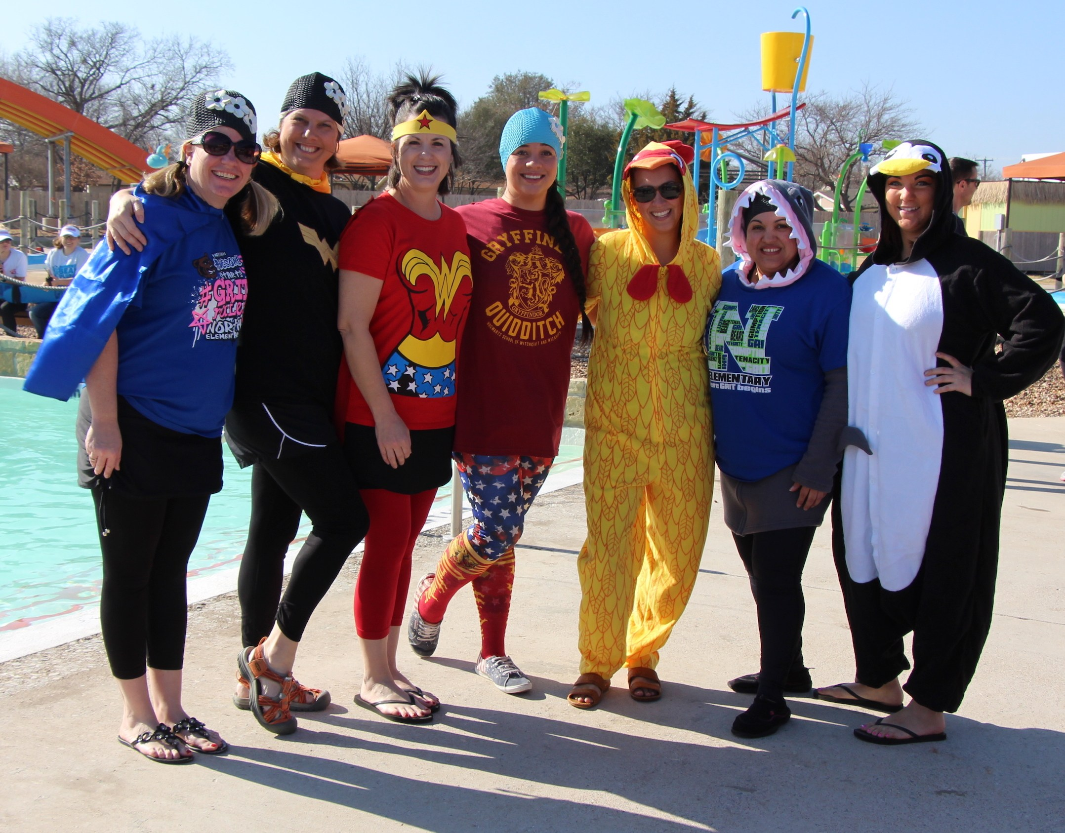 The North Elementary team won second place in the BRRRewer Bear Plunge Costume Contest.