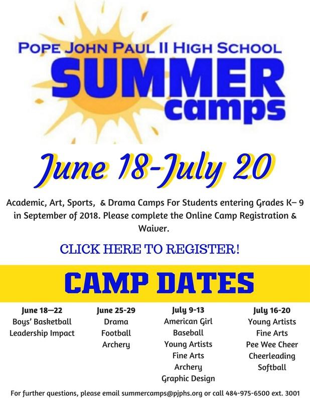 2018 Summer Camp Information! Thumbnail Image