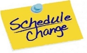 Schedule Changes Ahead Thumbnail Image