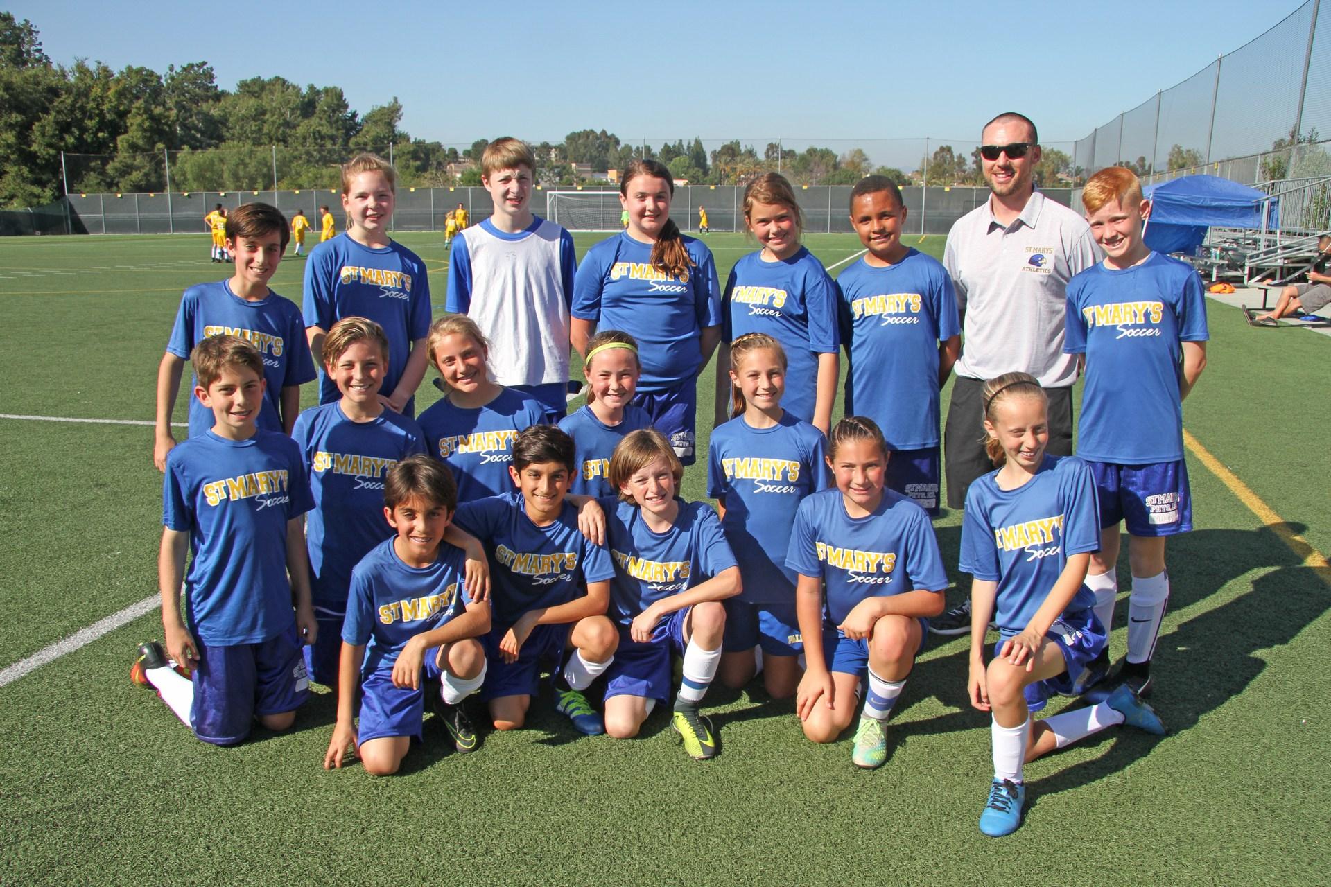 Canyon A coed soccer team
