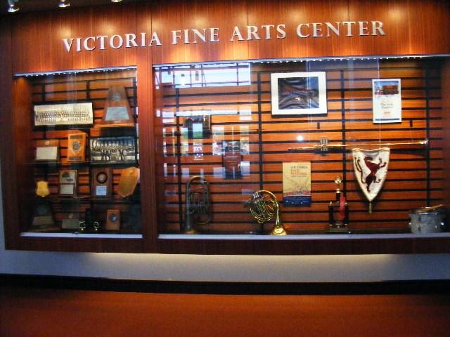 fine arts center display