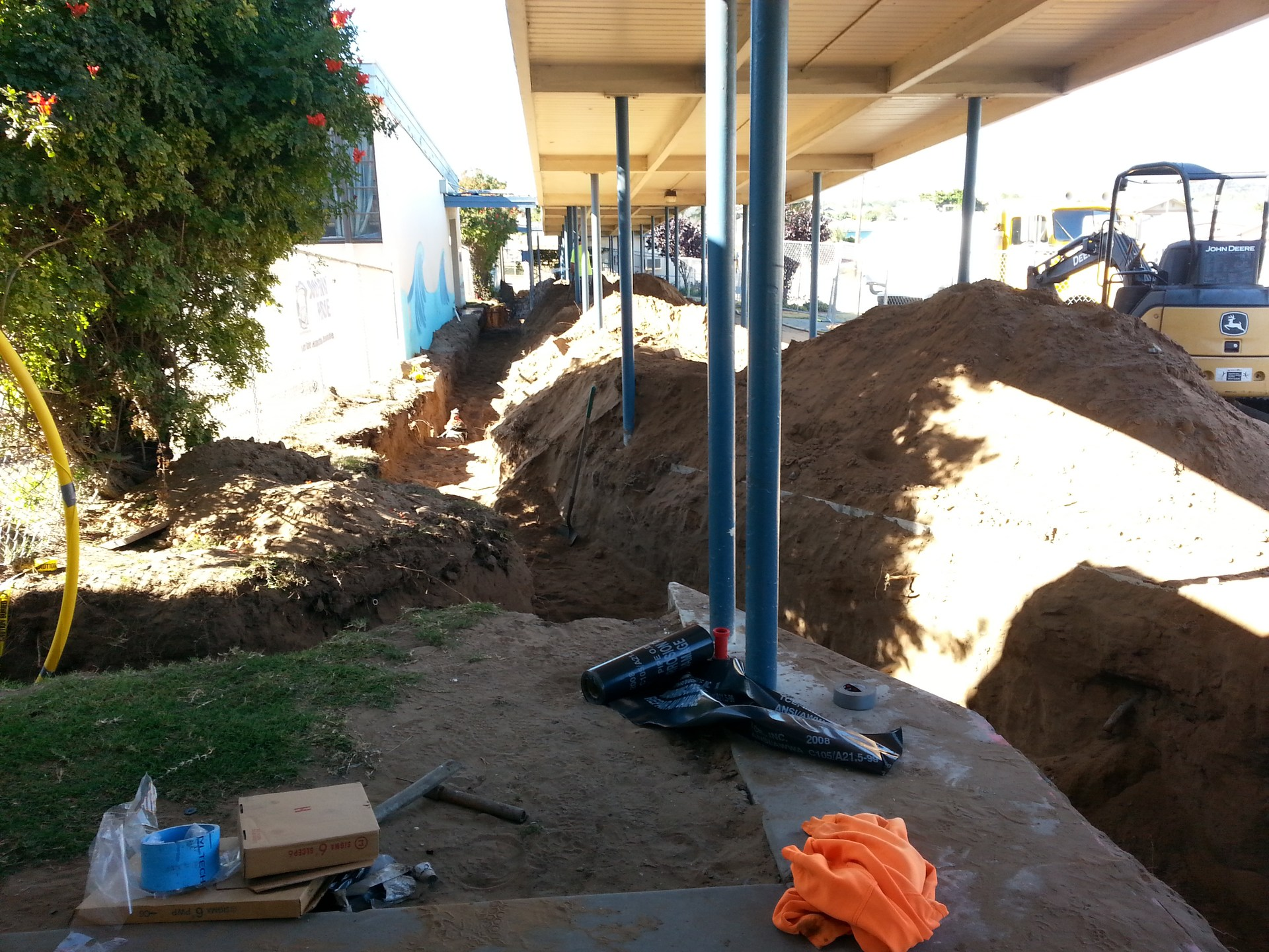 utility construction at Oceano