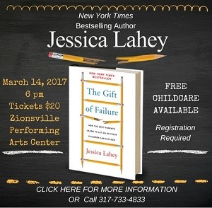 Jessica Lahey is coming to Zionsville! Thumbnail Image