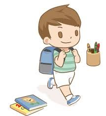 Student with backpack walking