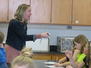 Page teacher Sarah Keizer is excited about science.