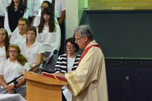 Dr. Signorelli speaking at graduation