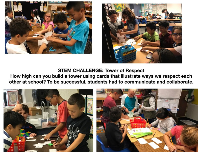 Students build STEM respect tower