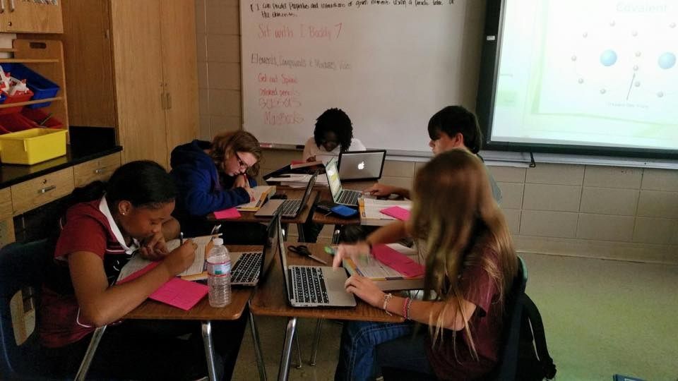 Students Using their MacBooks