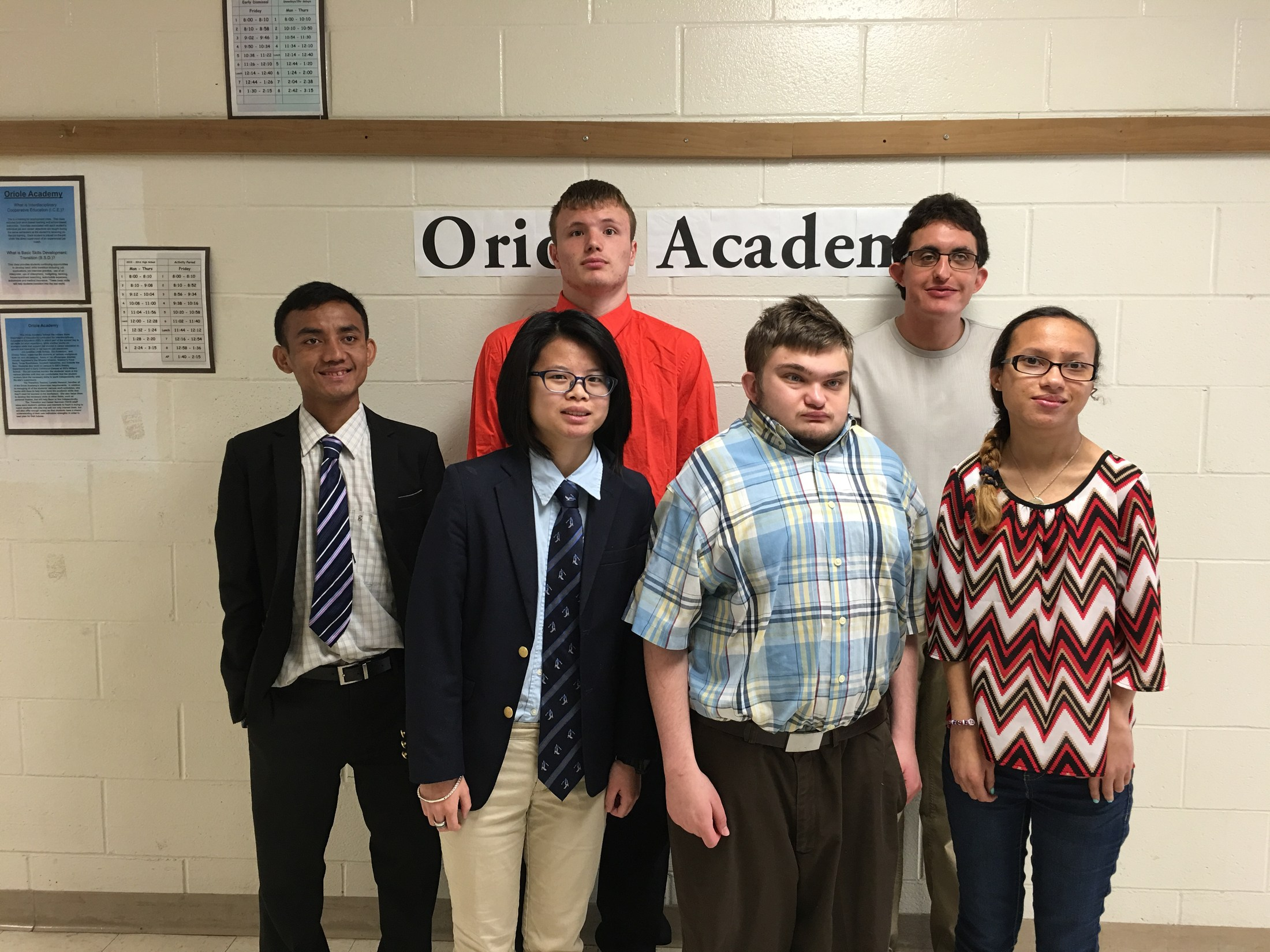Group of oriole academy students