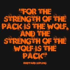 Strength of Wolf Pack Quote