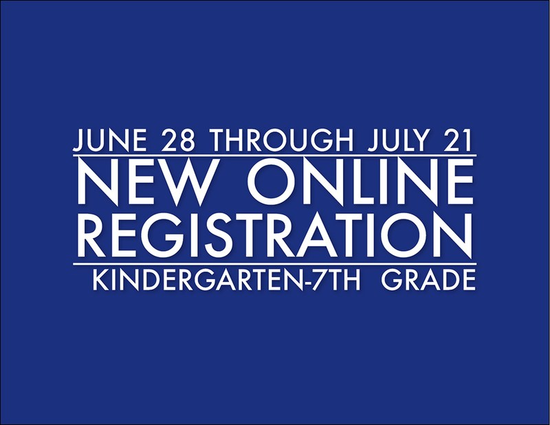 Online Registration for Kindergarten through 7th Grade Thumbnail Image