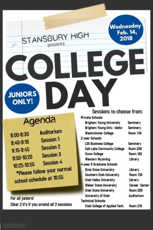 College Day schedule