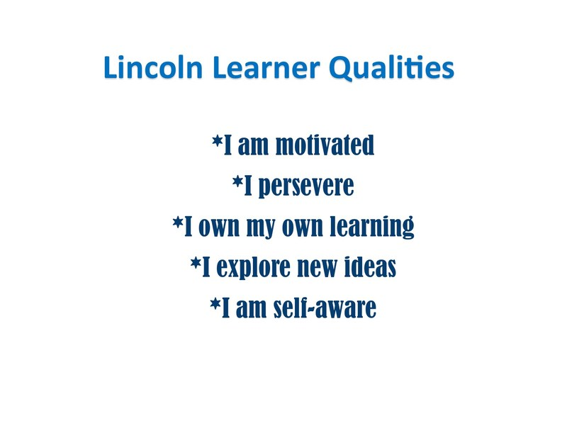 Lincoln Lion Learner Qualities! Thumbnail Image