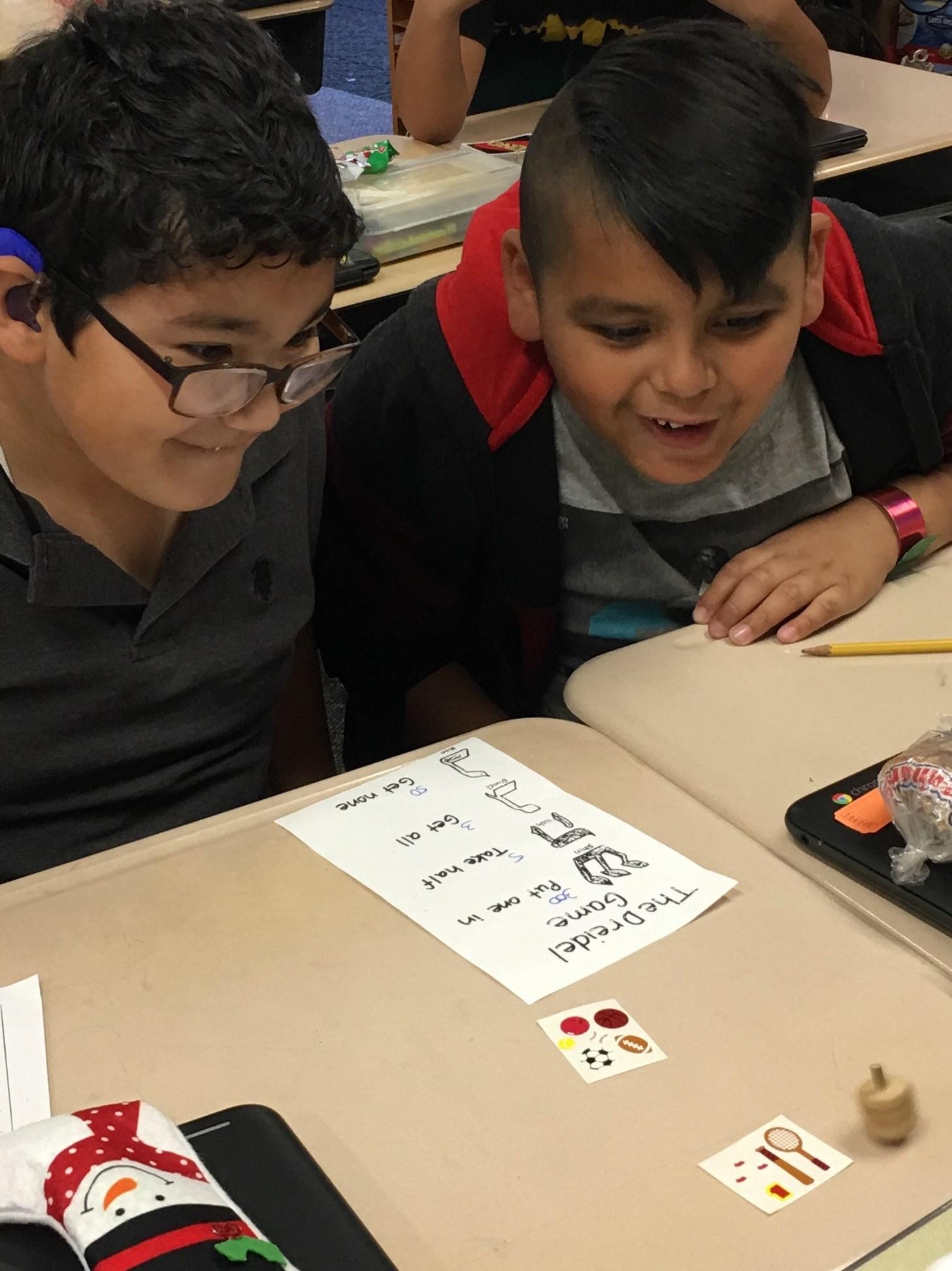 Dreidel Game for Math Activity