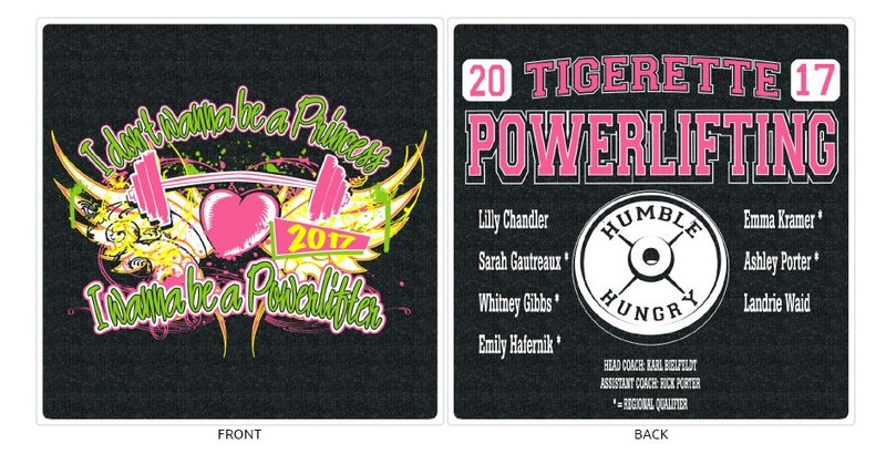 Tigerette Powerlifting T-Shirt Orders Due Thumbnail Image