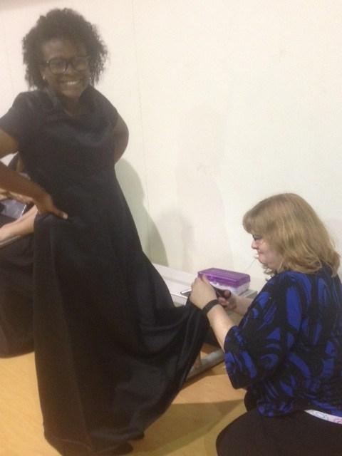 Fixing a dress hem