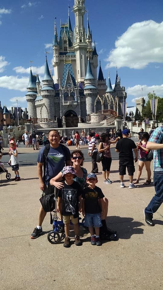 Mrs. Hwang's family at Disney World