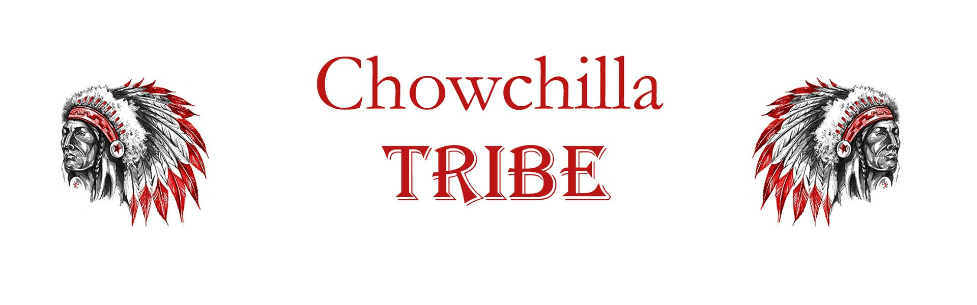 Chowchilla Tribe Banner with Indian Head Logo
