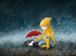rain_can_wait___national_cat_day_2013_by_barimoor-d5v9cnc.jpg