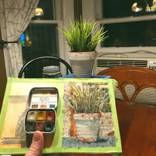 Still-Life Painting of Plant