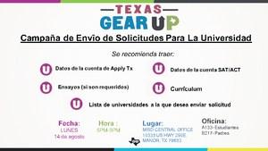 Campaña de Envîo de Solicitudes Para La Universidad.=