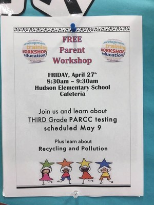 Parent Breakfast Workshop for April on Recycling Flyer/Invitation