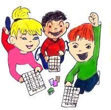 kids playing bingo with cards