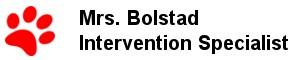 Mrs. Bolstad - Intervention Specialist
