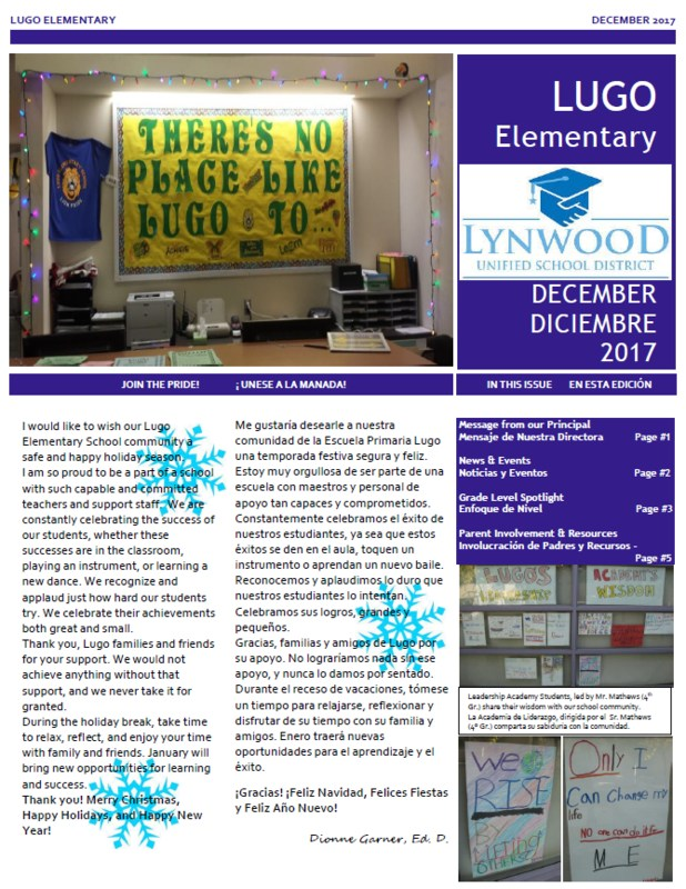 DECEMBER NEWSLETTER NOW AVAILABLE! | NOTICIERO DE DICIEMBRE ESTÁ DISPONIBLE! Featured Photo
