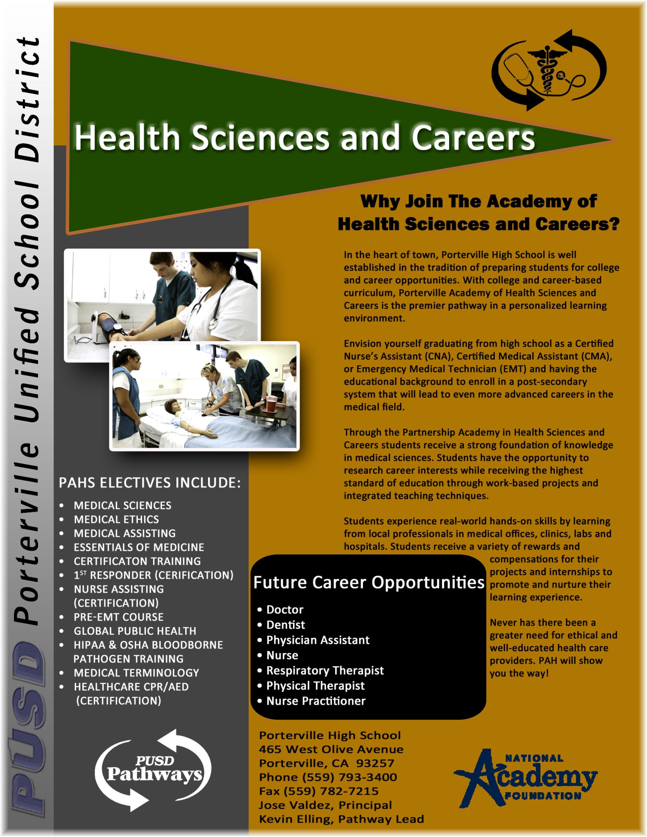 Academy of health sciences pahs pathways pusd pathways pahs xflitez Images