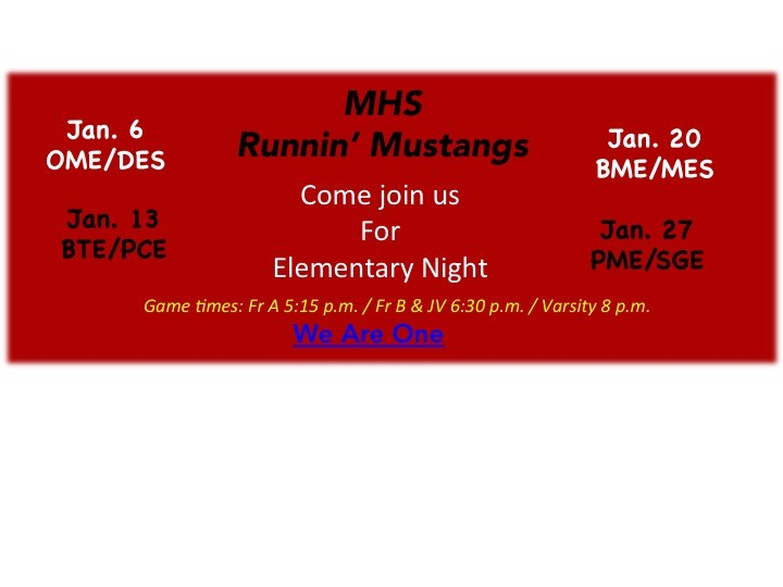 Runnin' with the Mustangs Elementary Nights/ Corriendo con los Mustangs en las noches elementales Thumbnail Image
