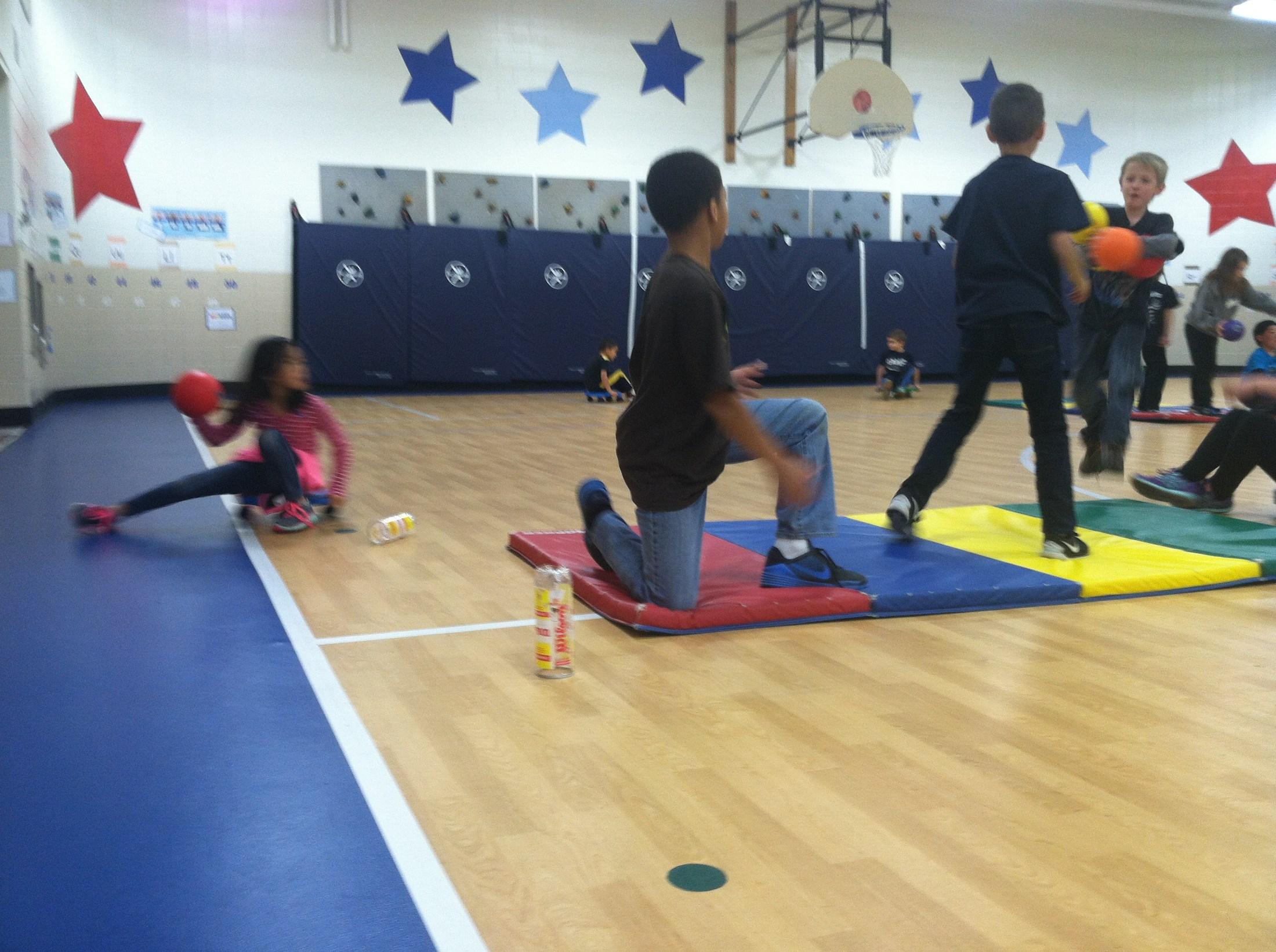 Fun time in the gym.