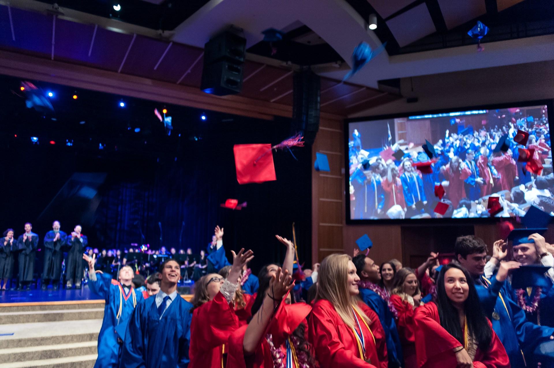 Students at graduation.