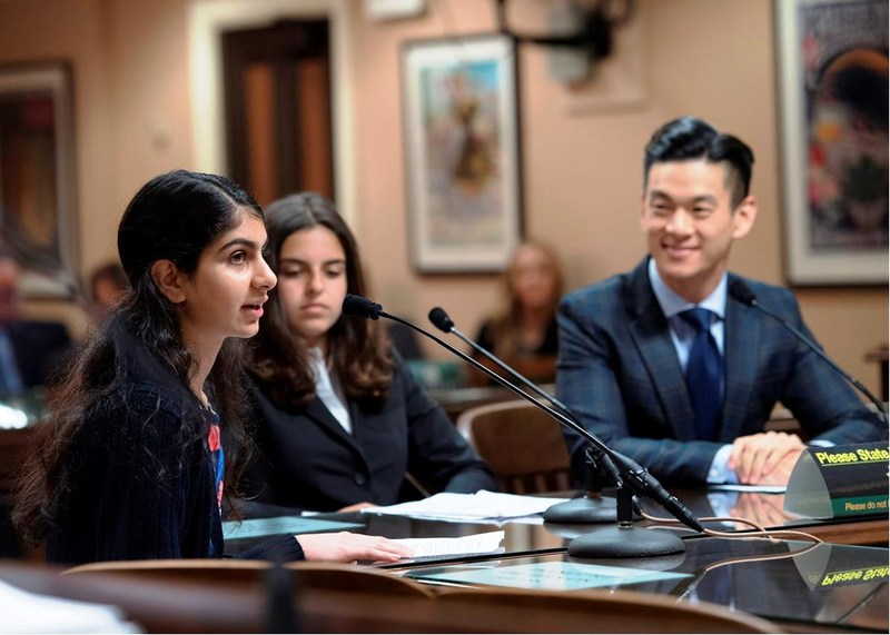 Moreland Middle School Student Testifies with Assemblymember Evan Low to Assembly Elections Committee Thumbnail Image