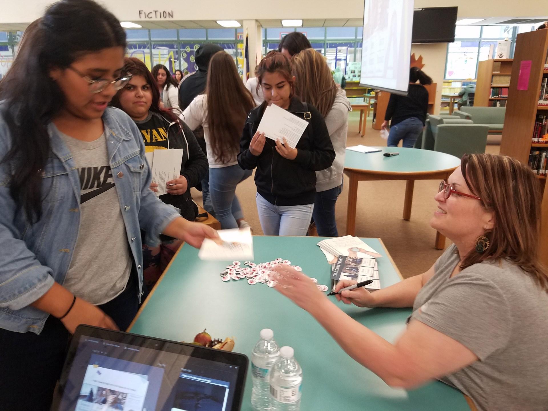 Beth signing books