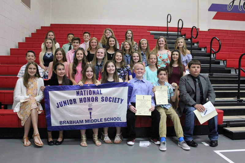 Brabham Middle School National Junior Honorees