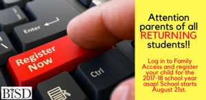 finger pressing key on keyboard that says Register Now