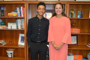 October Students of the Month Trent Walker and Bethany Bayer