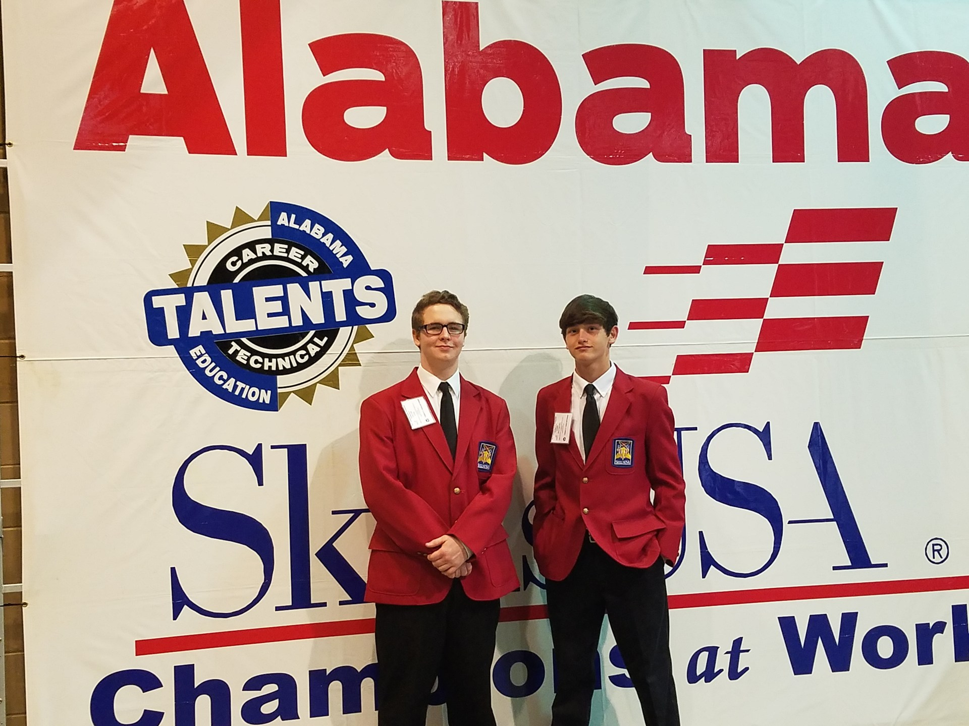 Alabama SkillsUSA state president and his campaign manager