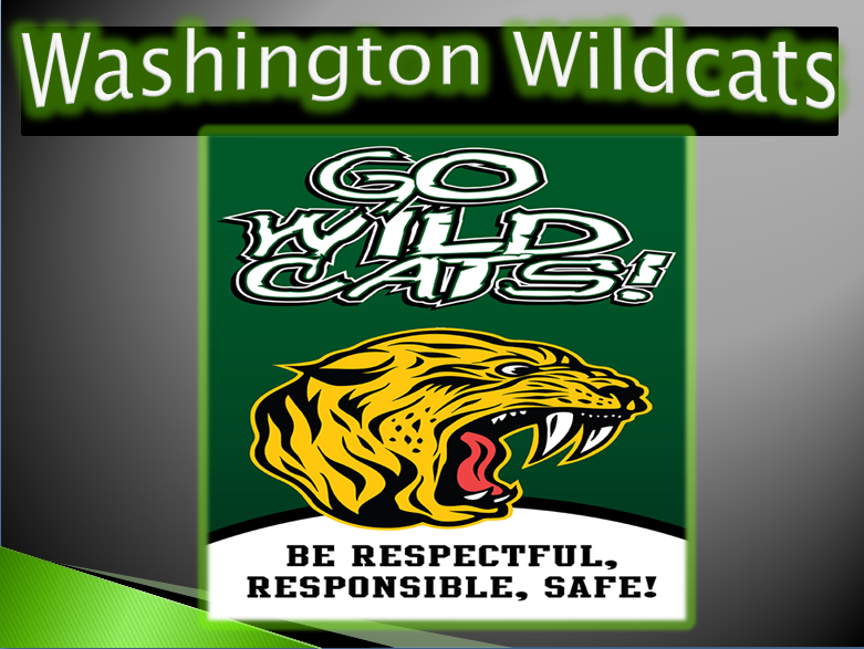 Wildcat graphic-Be Respectful Be Responsible Be Safe