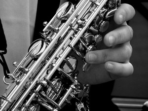 Photo of person playing a wind instrument