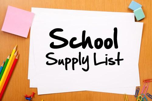 School Supply List on desk