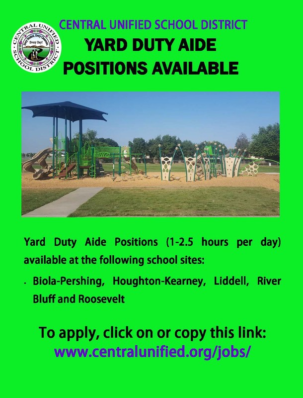 Yard Duty Aide Positions