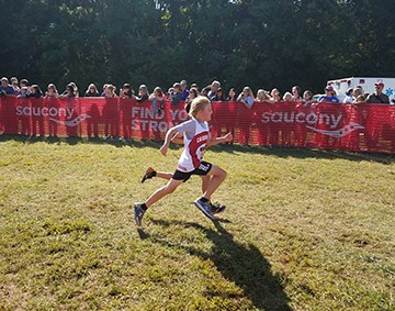 James River runner competes in cross country race.