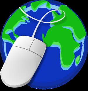 planet earth with mouse on top