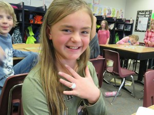 Each student got to make a ring with the 3Doodle pen.
